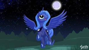 Happy Luna 16:9 by mysticalpha