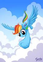Rainbow Dash Downward by mysticalpha