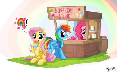 Fluttershy loves Rainbow by mysticalpha
