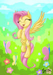 Fluttershy Flying 001 Take 2 by mysticalpha