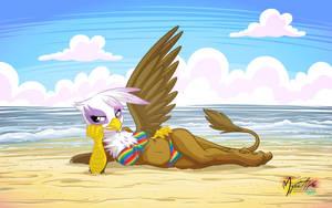 Gilda on the Beach by mysticalpha