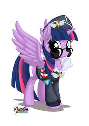 Twilight Sparkle as Commander Easyglider by mysticalpha