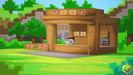 Minecraft Pork Shop 16:9 by mysticalpha