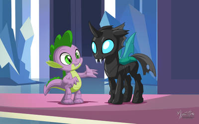 Spike and Thorax by mysticalpha