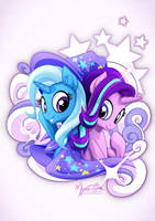 Starlight and Trixie by mysticalpha