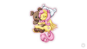 Fluttershy and the bear by mysticalpha