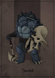 Sharskell - Tortle Warrior by SilkyNoire
