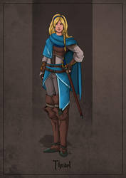 Thrael - Half-Elf Priest Rogue by SilkyNoire