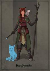 Amry Zorrandur - Fox Druid by SilkyNoire
