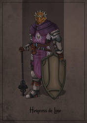 Hespress de Lune - Dragonborn Cleric by SilkyNoire