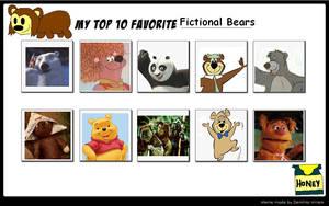 My Top 10 Favorite Bears by SithVampireMaster27