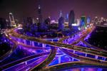 Shanghai Skyline by paikan07