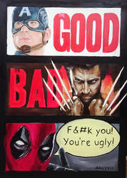 The Good The Bad and Deadpool by kleopetra007