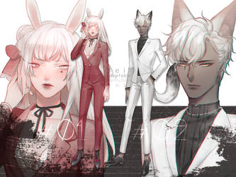 [ CLOSE ] Rabbit 'n Wolf Adoptable by Beii-ac