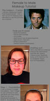 Female to Male Castiel Makeup Tutorial by sunkist3208