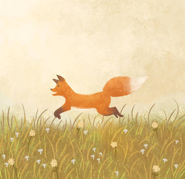 Jumping Fox by morgansketch