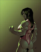 She Hulk [recolored] by ZigEnfruke