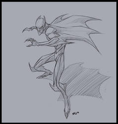 Batman Sketch by shubacca