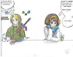 Link and Haruhi cross over by MichiruYami