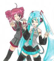Miku and Teto :3 by MichiruYami