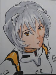 Sketch: Rei Ayanami by MichiruYami