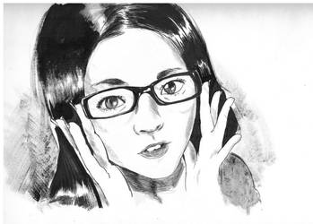 Lunch Hour Sketch: Glasses by MichiruYami