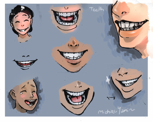 Teeth (Sketch Set) by MichiruYami