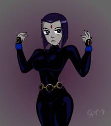 Raven (no magic) by CrimsonReapress