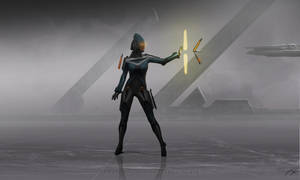 Concept art: Female Krijanic Collective Guard by xistenceimaginations