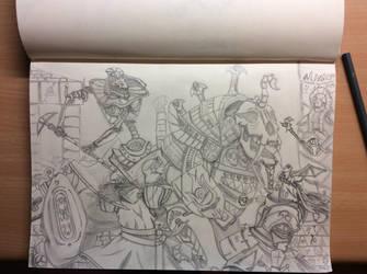 Ambush of the Bretonnian knights by StyrBj0rn