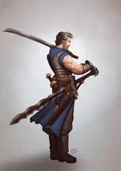 Yuzen - Trevor the blade master by b-cesar