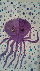 Purple Octopus by SkeletonAsh620