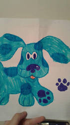 Blues Clues Blue the dog by SkeletonAsh620