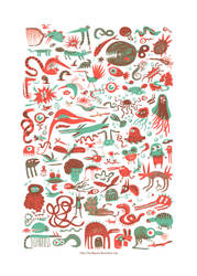 Monsters serigraphy by Marfigram