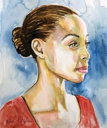 Watercolor portrait by dsart972
