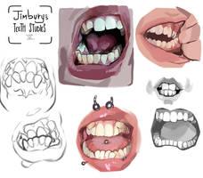 Teeth studies V by Jimbury