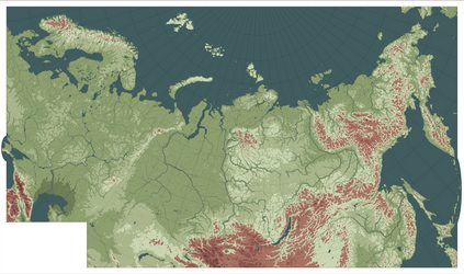 Topographic map of Eurasia by IvanZhv