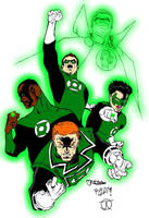 It's Not Easy Being Green (Green Lanterns colours) by Little--Broling