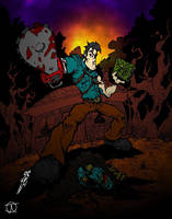 Hail to the King (Evil Dead colours) by Little--Broling