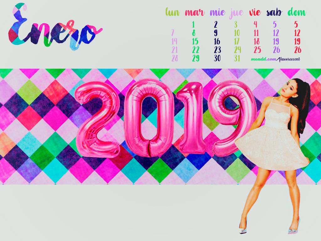 Ariana Grande Calendario.Calendario Enero 2019 Ariana Grande By Jinx1993 On Deviantart