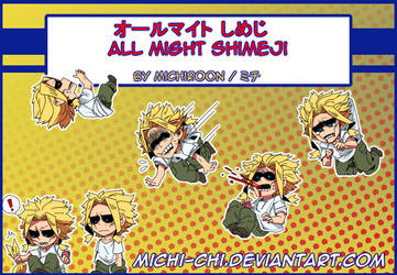 All Might Shimeji by Michi-chi
