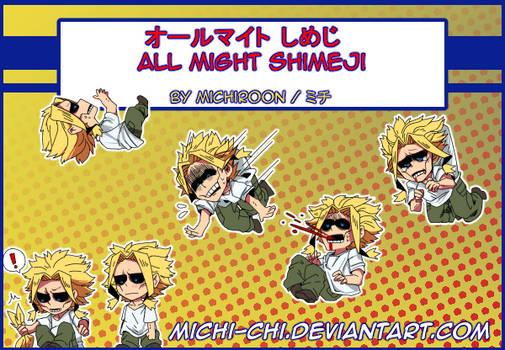 All Might Shimeji by Michi-chi