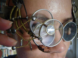 Steampunk Spectacles lens detail by SteampunkTigerlily