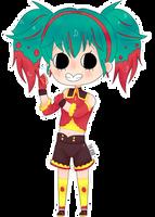 Chibi Hatsune Miku:  Raspberryism by TheJanie