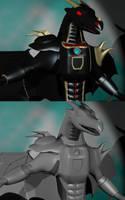 Odjin Battle Armor 3D WIP 2 by LordOfDragons