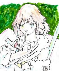 (A Copying Illust) Summoner Girl Yuna by Aka-Taa-Moi-Tok