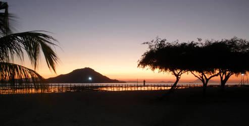 sunset in Kawana by Evilpainter