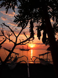 sunset bali by Evilpainter