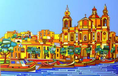 Msida - Malta by Evilpainter