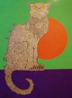 Katze mit Dekoration by Evilpainter